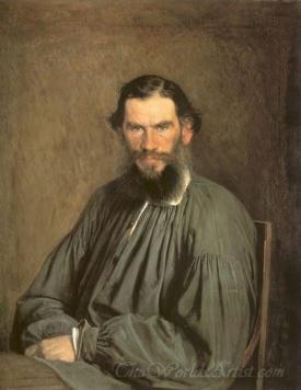 Portrait Of The Writer Leo Tolstoy