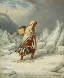 An Indian Mocassin Seller