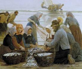 Women And Fishermen In Hornbaek