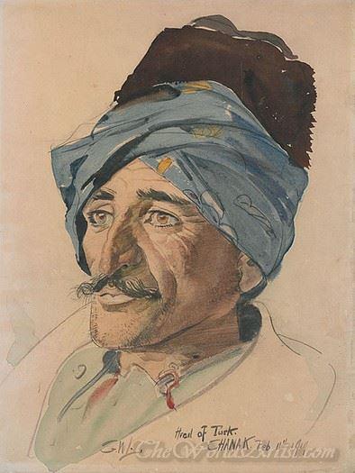 Head Of A Turk Chanak