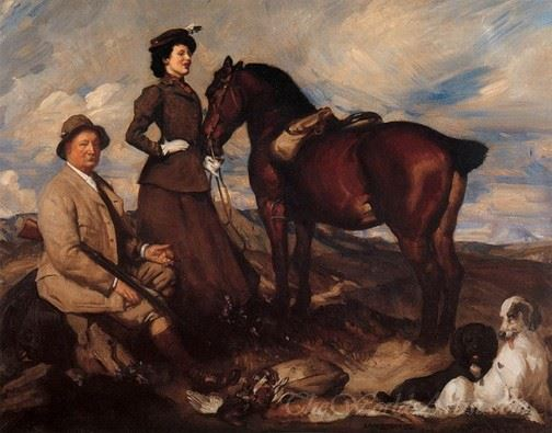 Miss Alison Preston And John Proctor On Mearbeck Moor