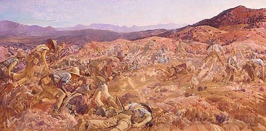 The Charge Of The 3rd Light Horse Brigade At The Nek