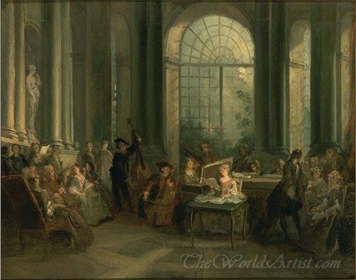 Concert Dans Le Salon Ovale De Pierre Crozat Vers  (Concert In The Oval Room )