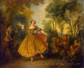 Mlle Marie Camargo Dancing