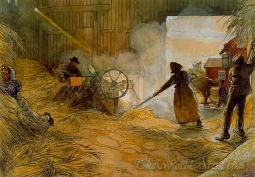 The Threshing Of The Grain