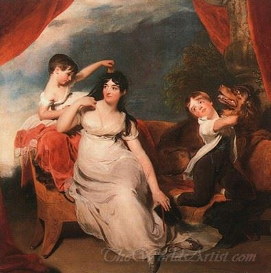 Mrs Henry Baring And Her Children