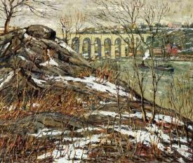 Harlem River In Winter