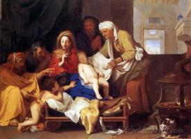 Holy Family With The Adoration Of The Child