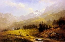 The Wengen Alps Morning In Switzerland