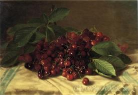 Cherries On A Tabletop