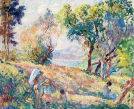 Girls In A Landscape Near St Tropez
