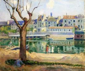 Lagny Sur Marne View Of The Quai De Pamponne