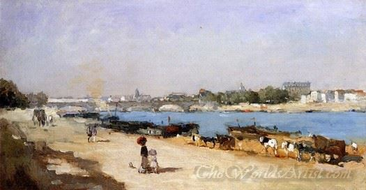 The Banks Of The Seine At Bercy