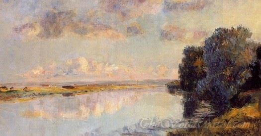 The Banks Of The Seine At Maisons Lafitte