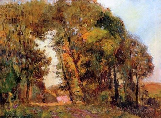 The Forest In Autumn Near Rouen