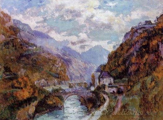 The Rhone At Saint Maurice Valais
