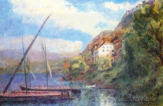 The Shores Of Lake Geneva At Saint Gingolph