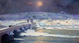 The Bridge Over The Allier At Pont Du Chateau In Winter