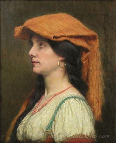 Portrait De Jeune Fille  (Portrait Of Young Girl)