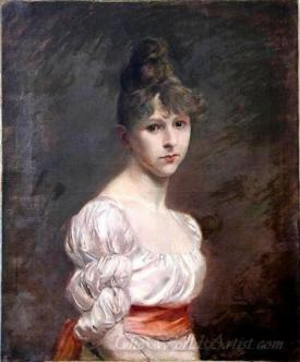 Jeune Fille A La Robe Blanche  (Young Girl With White Dress)