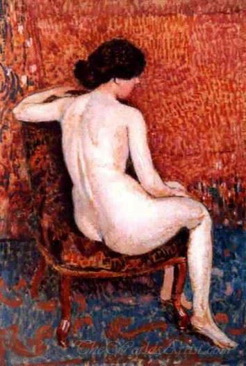 Sitting Nude On Chair