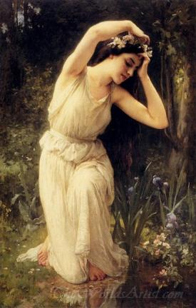 A Nymph In The Forest