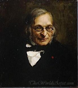 Portrait Of French Philosopher Adolphe Franck