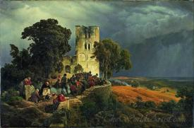 The Siege Defense Of A Church Courtyard During The Thirty Years War