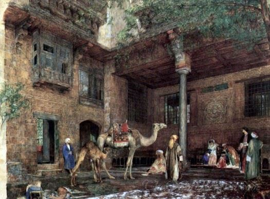 Courtyard In The House Of The Painter In Cairo