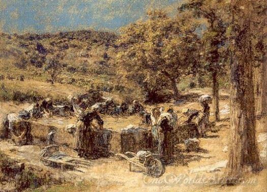Lavandieres En Provence  (Washerwomen In Provence)