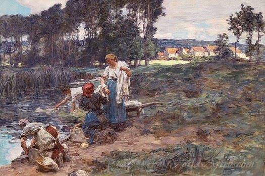Laveuses Le Matin  (Washerwoman In The Morning)