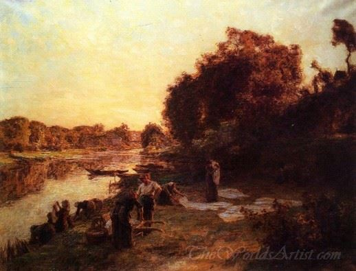 Washerwoman On The Banks Of The Marne