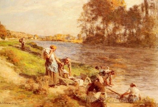 Washerwomen By The Banks Of The Marne
