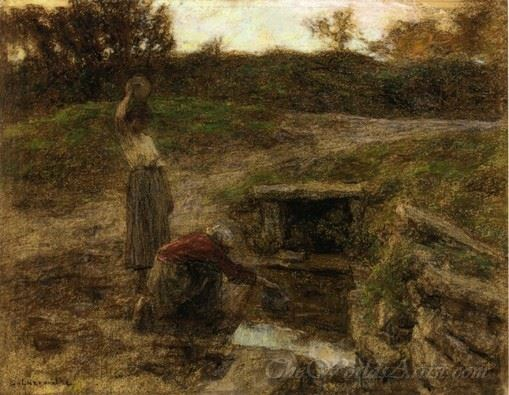 Woman At A Fountain