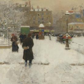The Square Du Temple Paris In Winter