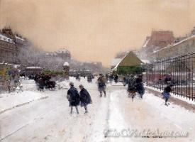 Paris Sous La Neige  (Paris Under The Snow)