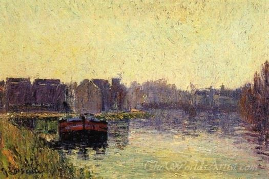 Barges On The Oise