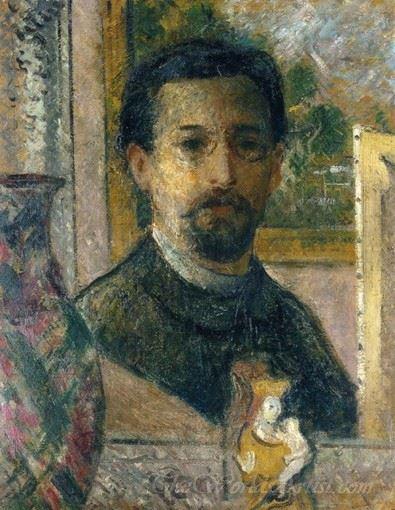Self Portrait With Statuette