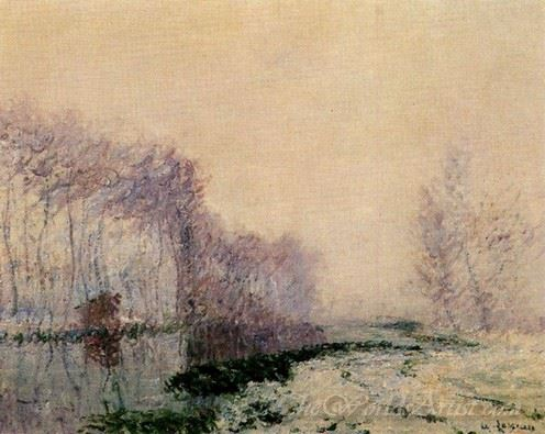 The Eure River In Winter