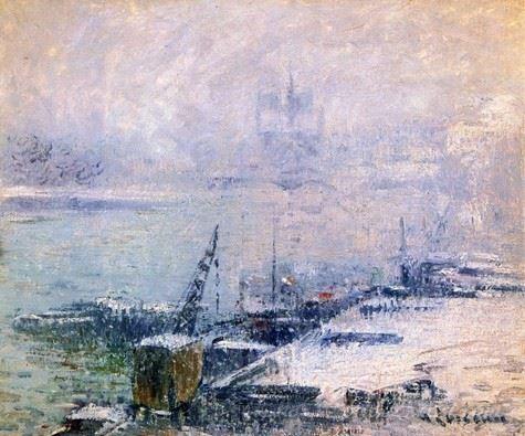 The Pont Henri Iv Notre Dame De Paris In The Snow