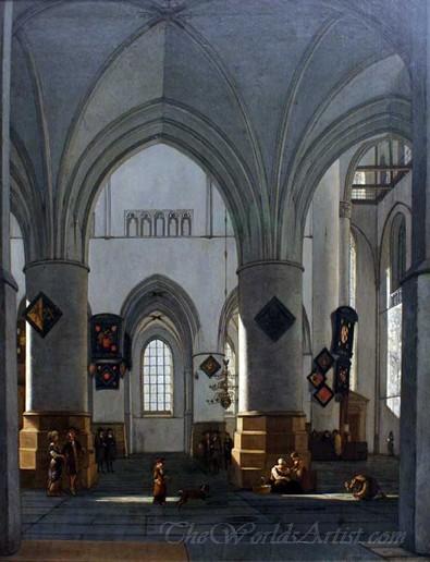Interior Of St Bavo Haarlem