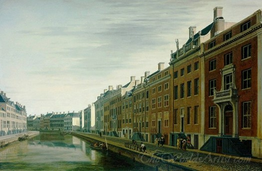 The Bend In The Herengracht Near The Nieuwe Spiegelstraat Amsterdam