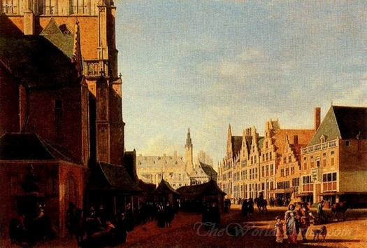 The Market Square In Haarlem