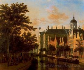 The Nieuwezijds Vooburgwal With The Flower Market In Amsterdam