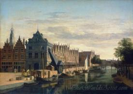 The Weigh House And Crane On The Spaarne At Haarlem