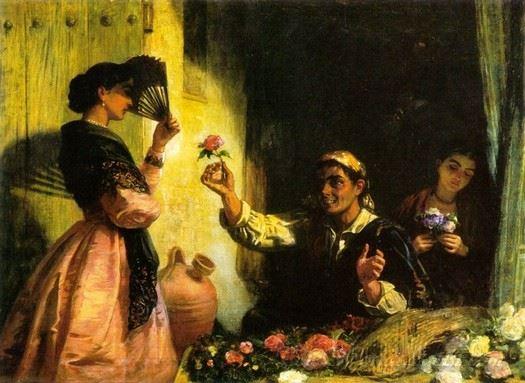 A Spanish Flower Seller