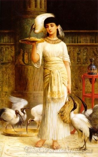 Ale The Attendant Of The Sacred Ibis In The Temple Of Isis