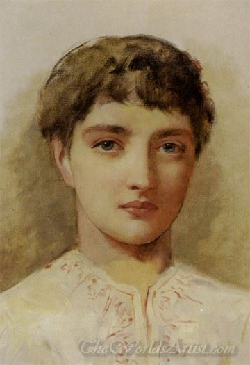 Head Study Of Young Girl