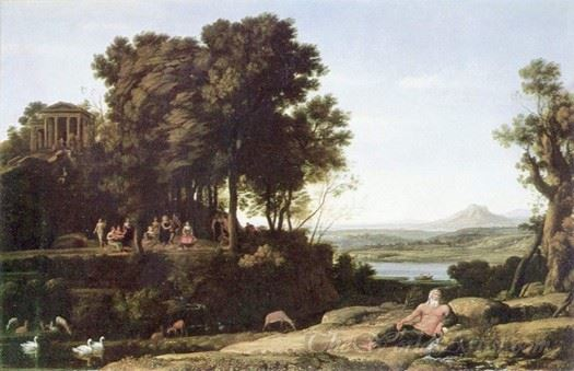 Landscape With Apollo The Muses And A River God