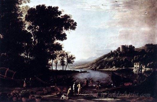 Landscape With Merchants